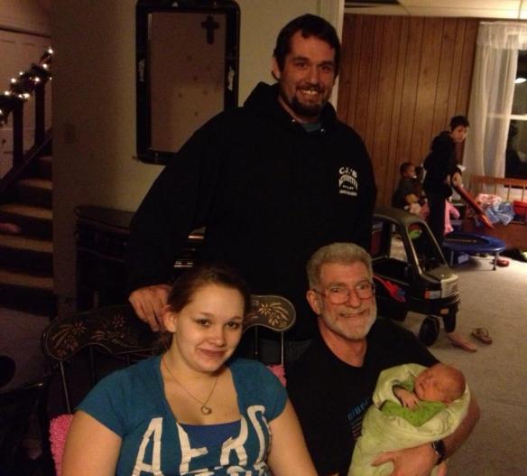 Jakob Gabriel, mom, grandpa, and ... yup great grandpa.